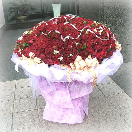 999玫瑰浪漫情人節花束
