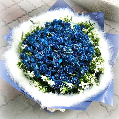 御花苑-藍玫瑰神秘99朵深情愛妳久久(或101)朵