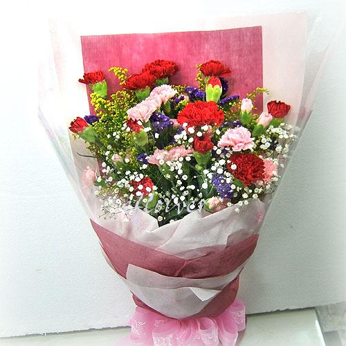 康乃馨溫馨花束