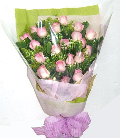 粉紅玫瑰花束珍愛永恆