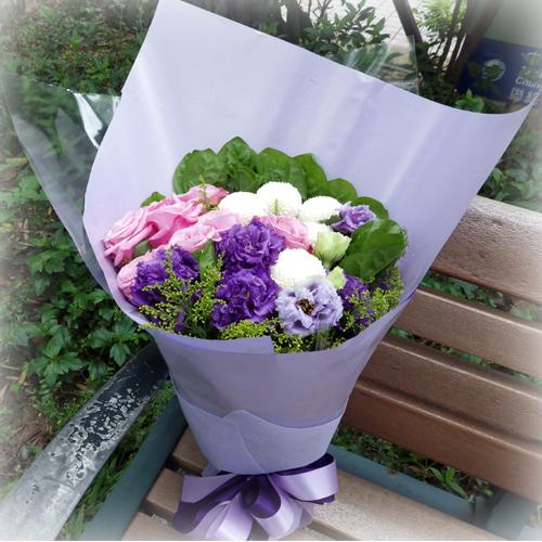 摯愛花束系列-紫玫瑰傳情花束