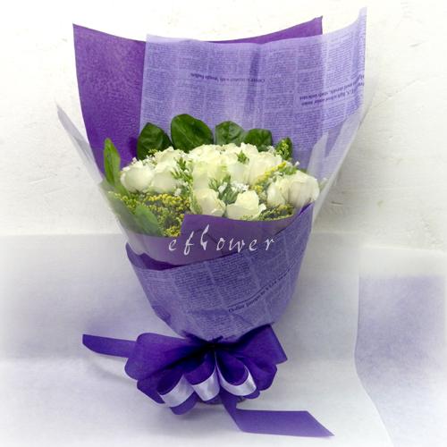 摯愛花束系列-白玫瑰花