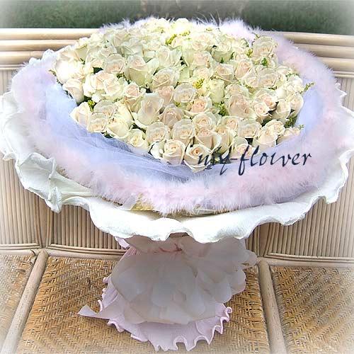 御花苑-99朵玫瑰花束浪漫銀河之愛