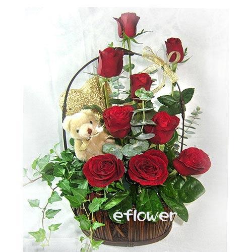 愛你久久紅玫瑰 /情人節花店推薦愛恆久遠